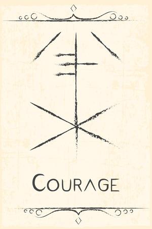 bravery: alchemy magic symbol