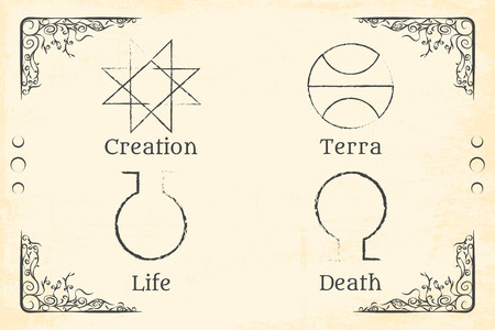 illuminati: alchemy magic symbol
