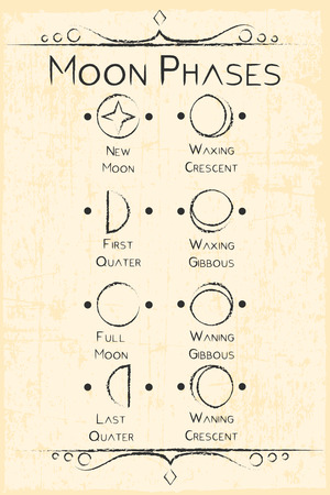 moon phases symbol Vectores