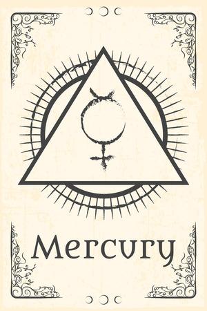 alchemy: alchemy magic symbol, illustration in vector format