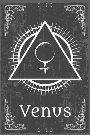 alchemie magisch symbool, illustratie in vector-formaat