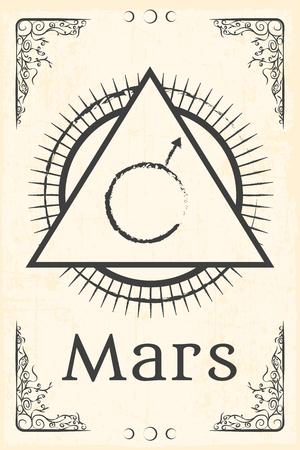 magia: alquimia símbolo mágico, ilustración en formato vectorial
