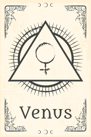 alchemy: alquimia símbolo mágico, ilustración en formato vectorial