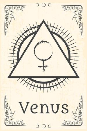 simbolo: l'alchimia simbolo magico, illustrazione in formato vettoriale Vettoriali