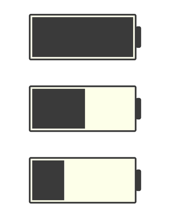cadmium: Battery Indicator Icons, illustration in vector format