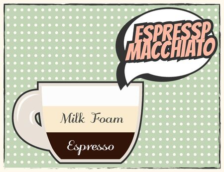 decaf: modern coffee background, illustration in vector format
