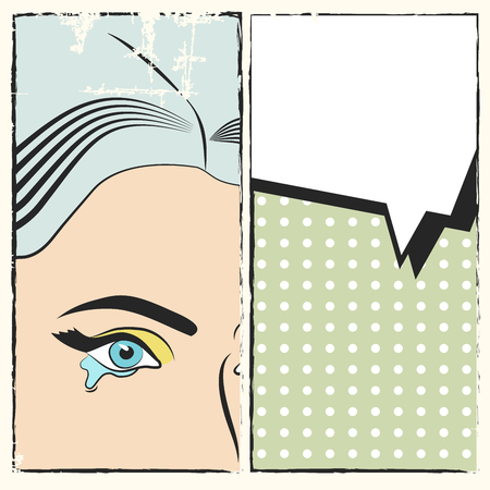 triptych: pop art background, illustration in vector format Illustration