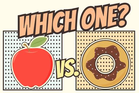 heathy food background, illustration in vector format