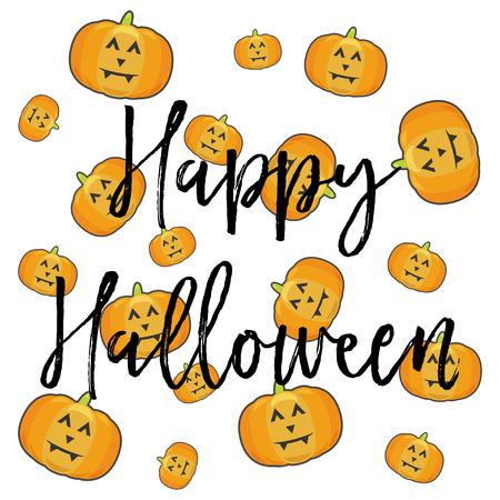 Glückliche Halloween-Karte, Abbildung Im Vektor-Format Lizenzfrei ...