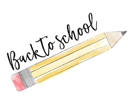 back to school. illustration in format