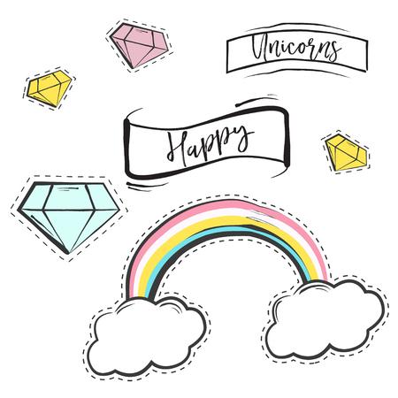Sweet colorful background, illustration in format Illustration