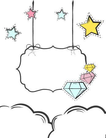 Sweet colorful background, illustration in vector format Illustration