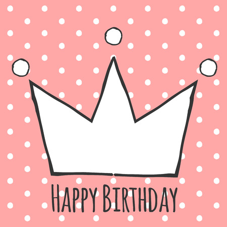 Happy Birthday Card Illustration In Vector Format Royalty Free