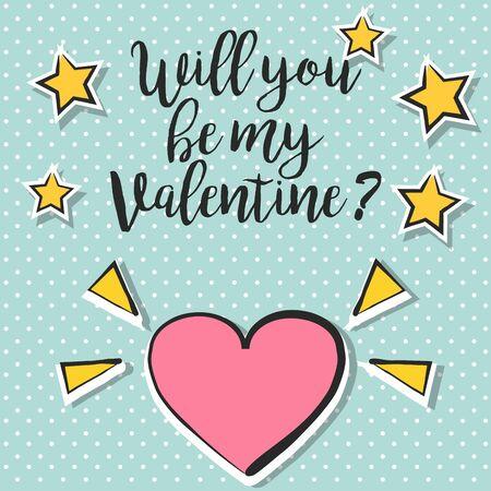 love wallpaper: happy valentines day, illustration in vector format Illustration