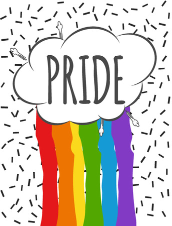gender identity: Watercolor Pride Flag, illustration in vector format