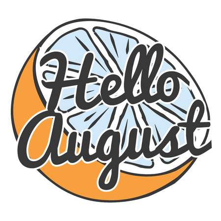 hello august card, illustration in vector format Illustration