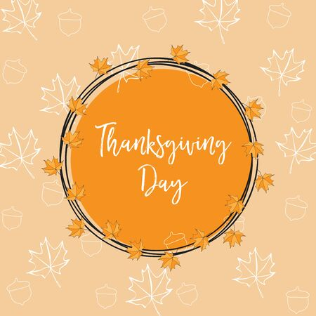 Thanksgiving floral illustration.