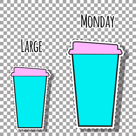 funny monday coffee, illustration in vector format