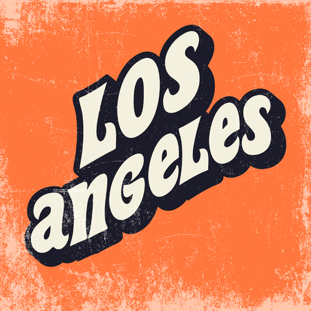 los angeles poster, illustration in vector fomar