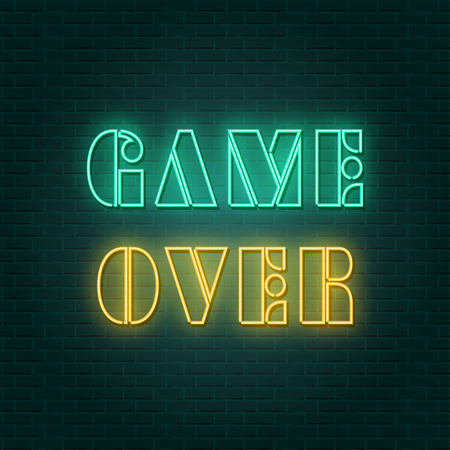 game over neon sign, illustration in vector format