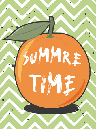 cute summer poster, illustration in vector format