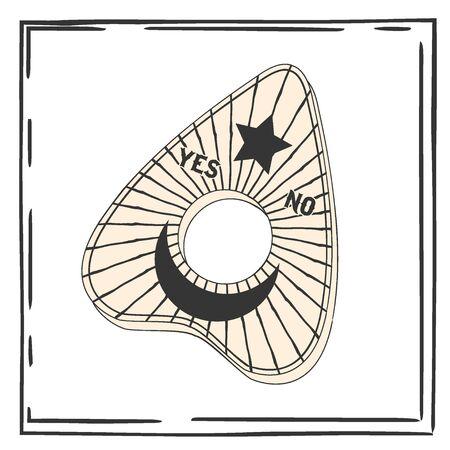 modern occult design, illustration in vector format
