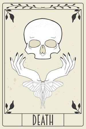 tarot card design, illustration in vector format