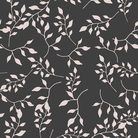 vintage leaf seamless pattern, illustration in vecot format Vectores