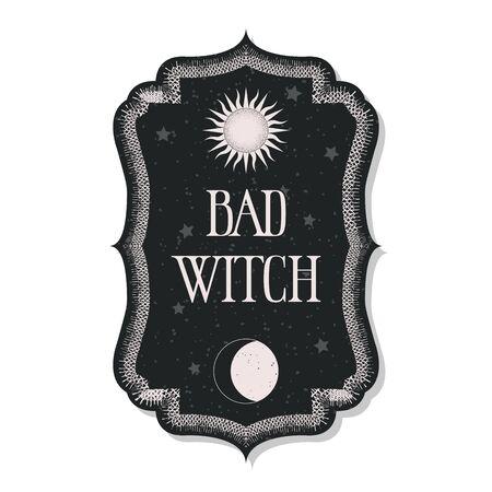 magical occult design, illustration in vector format