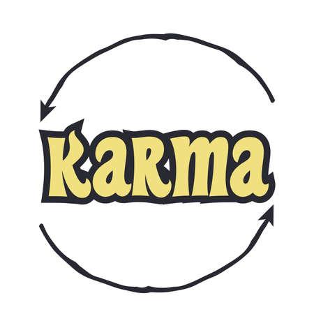 karma will fix it, illustration in vector format