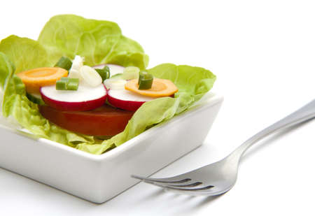 whitw: mixed vegetables in a whitw plate