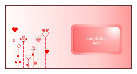 Valentine abstract card with heart elements Stock Vector - 6203471