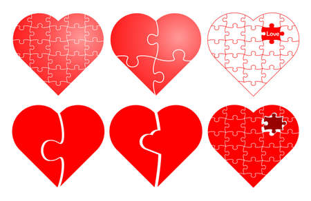 Valentine puzzle Vector