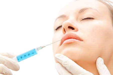 young woman have a botox treatment Imagens - 8526652