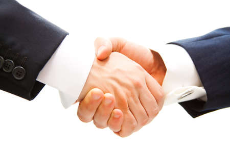 great deal: handshake of business partner after the deal