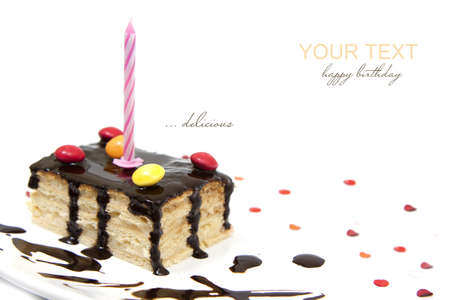 happy birthday with a delicious cake Imagens