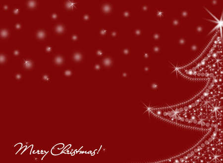 shinny christmas tree in a red background photo