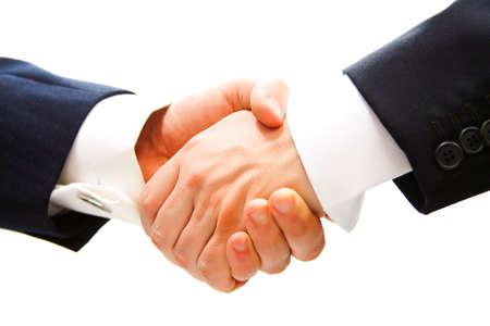 회사: 거래 후 비즈니스 파트너의 악수
