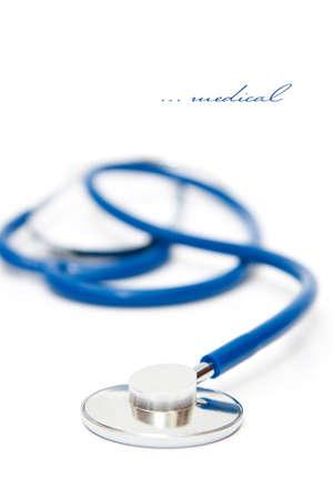 medical instrument - sthetoscope on white background Imagens