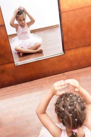 little ballerina on front of mirror photo