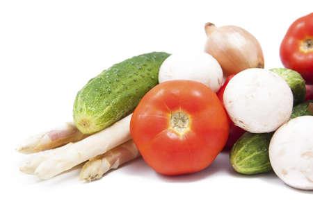 spring colored vegetables, healty food