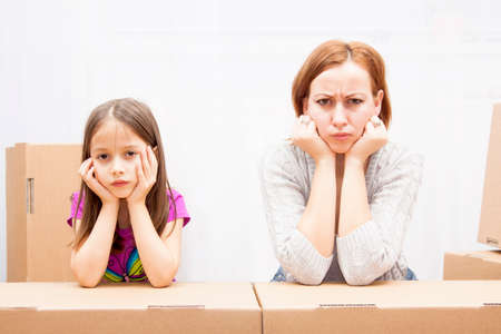 angry mother and her chil in move