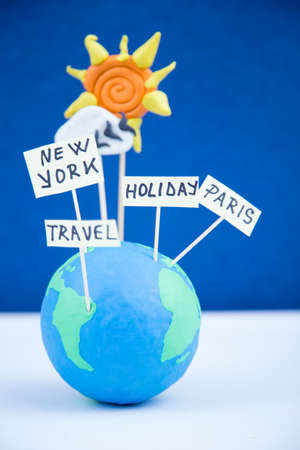 travel concept, paris, new york, holiday
