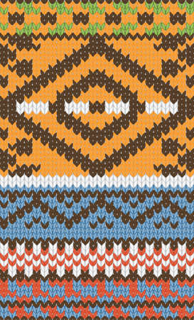 Seamless knitted pattern for winter clothing. Vector illustration. Stock Vector - 11662220