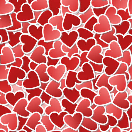textile image: Heart seamless pattern-gift wrapping and card background to the day of St. Valentine