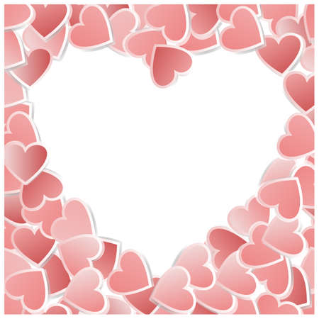 valentin: Valentine hearts card. Vector illustration