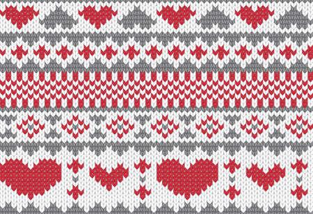 pullover: Nahtlos gestrickt Muster f�r Winterkleidung. Vektor-Illustration. Illustration