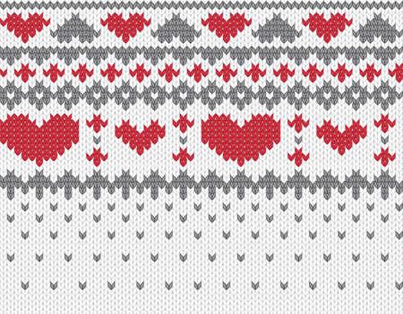 slavic: Seamless knitted pattern for winter clothing. Vector illustration. Illustration