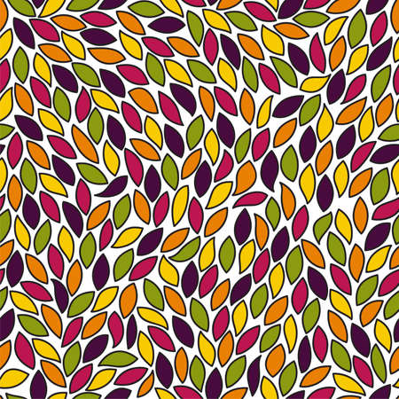 Abstract seamless pattern with colored leaves. EPS 10 vector illustration Stock Vector - 11967533