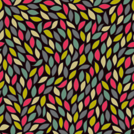 Abstract seamless pattern with colored leaves. EPS 10 vector illustration Stock Vector - 11973158